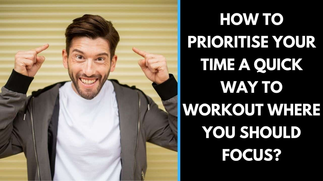 How to prioritise your time a quick way to workout where you should focus